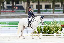 Sophie Milner, (HKG), The Silver Surfer - Individual Test Grade Ib Para Dressage - Alltech FEI World Equestrian Games™ 2014 - Normandy, France.<br /> © Hippo Foto Team - Jon Stroud <br /> 25/06/14