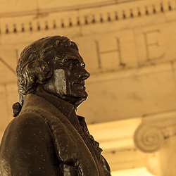 Washington, DC, USA - April 11, 2013: President Jefferson Statue at the Thomas Jefferson Memorial in Washington D C
