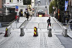 September 18, 2017 - Bergen, NORWAY - Illustration picture shows roadblocks during the men's Under-23 individual time trial at the 2017 UCI Road World Cycling Championships in Bergen, Norway, Monday 18 September 2017. BELGA PHOTO YORICK JANSENS (Credit Image: © Yorick Jansens/Belga via ZUMA Press)
