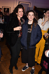 Mollie Dent-Brocklehurst and her daughter Violet Ward at Mark Shand's Adventures and His Cabinet Of Curiosities VIP private view, 32 Portland Place, London, England. 20 February 2018.
