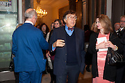 NORMAN KURLAND, Opening of David Hockney ' A Bigger Picture' Royal Academy. Piccadilly. London. 17 January 2012