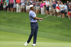 May 30, 2019 - Dublin, OH, U.S. - DUBLIN, OH - MAY 30: Tiger Woods hits an approach shot on the ninth hole during the first round of The Memorial Tournament on May 30th 2019  at Muirfield Village Golf Club in Dublin, OH. (Photo by Ian Johnson/Icon Sportswire) (Credit Image: © Ian Johnson/Icon SMI via ZUMA Press)