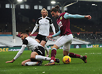 Football - 2020 / 2021 Emirates FA Cup - Round Four - Fulham vs Burnley - Craven Cottage<br /> <br /> Jay Rodriguez of Burnley and Michael Hector of Fulham<br /> <br /> COLORSPORT/ANDEW COWIE