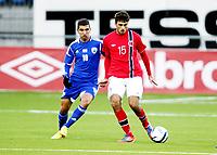 Fotball , 15. oktober 2013 , U21 , Euro Qual. , Norway - Israel<br /> Norge - Israel<br /> Kevin Alexander Dure Johannesen  , Norge<br /> Mu'nas Dabbur , Israel