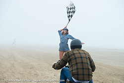 Racing down the beach at TROG West - The Race of Gentlemen. Pismo Beach, CA, USA. Saturday October 15, 2016. Photography ©2016 Michael Lichter.