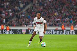 September 16, 2017 - Stuttgart, Germany - Stuttgarts Dennis Aogo initiates a counter / Bundesliga match VfB Stuttgart vs VfL Wolfsburg, September 16, 2017. (Credit Image: © Bartek Langer/NurPhoto via ZUMA Press)
