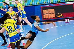 Oceane Sercien Ugolin of RK Krim (SLO) during handball match between RK Krim Mercator (SLO) vs Metz Handball  (FRA) in DELO EHF Women's Champions League 2020/21, on January 16, 2021 in SRC Stozice, Ljubljana, Slovenia. Photo by Grega Valancic / Sportida
