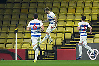 Football - 2020 / 2021 Sky Bet Championship - Watford vs Queens Park Rangers - Vicarage Road<br /> <br /> Charlie Austin of Queens Park Rangers scores his side's equalising goal to make the score 1-1.<br /> <br /> COLORSPORT/ASHLEY WESTERN