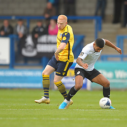 TELFORD COPYRIGHT MIKE SHERIDAN Gabriel Johnson and Ellis Deeney of Telford during the Vanarama National League Conference North fixture between AFC Telford United and Guiseley on Saturday, October 19, 2019.<br /> <br /> Picture credit: Mike Sheridan/Ultrapress<br /> <br /> MS201920-026