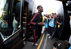 Manchester United's Paul Pogba arrives at the Stadium prior to the beginning of the match