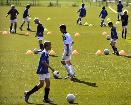 Nederland, Groesbeek, 2-9-2012Voetbalclub de Treffers heeft een goed georganiseerde jeugdtraining.Foto: Flip Franssen/Hollandse Hoogte