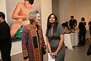 Lady Chapple and Priyanka Mathew , Other,Riyas Komu and Peter Drake. - VIP  launch of Aicon. London's largest contemporary Indian art gallery. Heddon st. and afterwards ant Momo.15 Marc h 2007.  -DO NOT ARCHIVE-© Copyright Photograph by Dafydd Jones. 248 Clapham Rd. London SW9 0PZ. Tel 0207 820 0771. www.dafjones.com.