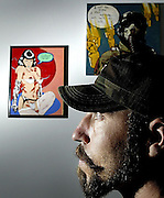 """Sean Hyatt is seen at the Electric Gallery on Aug 17, 2006., with is show """"Bullets and Lace"""" which opens on Friday night. Hyatt's work brings two main themes of war and erotic together. .(Ottawa Sun Photo By Sean Kilpatrick)"""