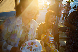 Residents enjoy the Ogimi Summer Festival in Ogimi, Okinawa. The island's population boasts one of the longest life spans in the world.