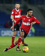 Grant Ward of Ipswich Town in action. EFL Skybet championship match, Cardiff city v Ipswich Town at the Cardiff city stadium in Cardiff, South Wales on Tuesday 31st October 2017.<br /> pic by Andrew Orchard, Andrew Orchard sports photography.