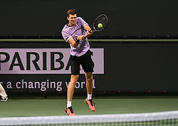 March 10, 2019 - Palm Desert, California, Usa - Tennis : BNP Paribas Open 2019 - Hubert Hurcacz - Pologne (Credit Image: © Panoramic via ZUMA Press)