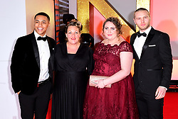 Zack Morris, Lorraine Stanley, Clair Norris and Danny Walters attending the National Television Awards 2019 held at the O2 Arena, London. PRESS ASSOCIATION PHOTO. Picture date: Tuesday January 22, 2019. See PA story SHOWBIZ NTAs. Photo credit should read: Ian West/PA Wire