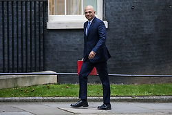 © Licensed to London News Pictures. 09/01/2018. London, UK. Secretary of State for Housing, Communities and Local Government Sajid Javid arrives on Downing Street for the first meeting of the Cabinet after Prime Minister Theresa May's reshuffle. Photo credit: Rob Pinney/LNP