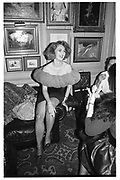 Baroness Francesca Thyssen at a party given by Valentino. Annabel's. 15 September 1987. ? Copyright Photograph by Dafydd Jones 66 Stockwell Park Rd. London SW9 0DA Tel 020 7733 0108 www.dafjones.com