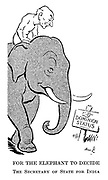 For the Elephant to Decide. The secretary of state for India