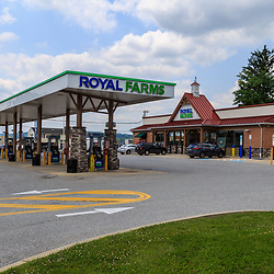 Wrightsville, PA, USA - June 7, 2018: A Royal Farms location, which is an American chain of convenience stores with over 180 locations in the mid-Atlantic states.