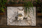 View of a wall fountain at the Huxinting Teahouse in Yu Yuan Gardens Shanghai, China