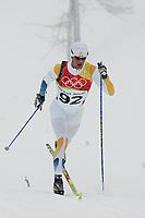 OL 2006 Langrenn menn 15km,<br />Pragelato Plan<br />17.02.06 <br />Foto: Sigbjørn Hofsmo, Digitalsport <br /><br />Anders Sødergren SWE Sverige