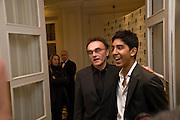 Danny Boyle; Dev Patel, The London Critics' Circle Film Awards 2009 in aid of the NSNCC. Grosvenor House Hotel . Park Lane. London. 4 February 2009 *** Local Caption *** -DO NOT ARCHIVE -Copyright Photograph by Dafydd Jones. 248 Clapham Rd. London SW9 0PZ. Tel 0207 820 0771. www.dafjones.com<br /> Danny Boyle; Dev Patel, The London Critics' Circle Film Awards 2009 in aid of the NSNCC. Grosvenor House Hotel . Park Lane. London. 4 February 2009