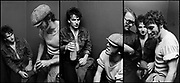 Tryptic Photo of Paul McGuiness, Adam Clayton, Pete Townsend, Bono, Bruce Springsteen and  back stage after U2 concert  at the Hammersmith Palais London 1981