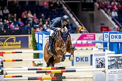 CARRASCO Rodrigo (CHI), G. la Numero<br /> Braunschweig - Löwenclassics 2019<br /> Finale Youngster Tour für 7+8 jährige Pferde<br /> 24. März 2019<br /> © www.sportfotos-lafrentz.de/Stefan Lafrentz