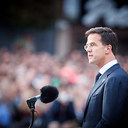 NLD/Amsterdam/20150504 - Dodenherdenking 2015 Amsterdam, toespraak van premier Mark Rutte