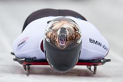 18.02.2016, Olympiaeisbahn Igls, Innsbruck, AUT, FIBT WM, Bob und Skeleton, Herren, Skeleton, 2. Lauf, im Bild Dave Greszczyszyn (CAN) // Dave Greszczyszyn of Canada competes during men's Skeleton 2nd run of FIBT Bobsleigh and Skeleton World Championships at the Olympiaeisbahn Igls in Innsbruck, Austria on 2016/02/18. EXPA Pictures © 2016, PhotoCredit: EXPA/ Johann Groder