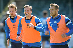 Bristol Rovers' Lee Mansell laughs during a training session before the vanarama conference play-off final against Grimsby - Photo mandatory by-line: Dougie Allward/JMP - Mobile: 07966 386802 - 12/05/2015 - SPORT - Football - Bristol - Memorial Stadium - Bristol Rovers v Grimbsy Town - Vanarama Football Conference