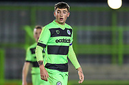 Forest Green Rovers Lewis Spurrier(8) during the FA Youth Cup match between U18 Forest Green Rovers and U18 Cheltenham Town at the New Lawn, Forest Green, United Kingdom on 29 October 2018.