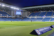 Ibrox Stadium in preparation for the William Hill Scottish Cup quarter final replay match between Rangers and Aberdeen at Ibrox, Glasgow, Scotland on 12 March 2019.