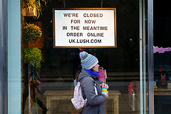 Edinburgh, Scotland, UK. 13 January 2020. Shops in Scotland now generally prohibited from offering Click and Collect service from front doors with some exceptions depending on type of goods on sale. Pic; Lush has closed and not offering C&C.   Iain Masterton/Alamy Live News