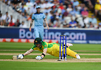 Cricket - 2019 ICC Cricket World Cup - Semi-Final: England vs. Australia<br /> <br /> Australia's Steve Smith narrowly avoids a run out, at Edgbaston, Birmingham.<br /> <br /> COLORSPORT/ASHLEY WESTERN