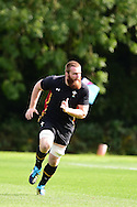 Jake Ball of Wales in action. RWC Wales rugby team training at the Vale Resort, Hensol near Cardiff, South Wales on Wed 16th Sept 2015.<br /> pic by Andrew Orchard, Andrew Orchard sports photography.