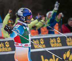 22.12.2013, Gran Risa, Alta Badia, ITA, FIS Ski Weltcup, Alta Badia, Riesenslalom, Herren, 2. Durchgang, im Bild Aksel Lund Svindal (NOR) // Aksel Lund Svindal of Norway reacts in the finish Area during 2nd run of mens Giant Slalom of the Alta Badia FIS Ski Alpine World Cup at the Gran Risa Course in Alta Badia, Italy on 2012/12/22. EXPA Pictures © 2013, PhotoCredit: EXPA/ Johann Groder