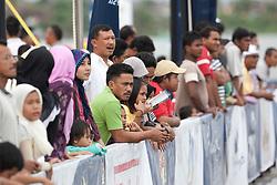 Crowds during qualifying session 3 Monsoon Cup 2010. World Match Racing Tour, Kuala Terengganu, Malaysia. 3 December 2010. Photo: Subzero Images/WMRT