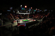 a General view of the match. Stuart Bingham (Eng) v Joe Perry (Eng), 1st round match at the Dafabet Masters Snooker 2017, day 2 at Alexandra Palace in London on Monday 16th January 2017.<br /> pic by John Patrick Fletcher, Andrew Orchard sports photography.