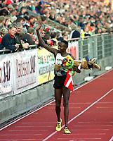 Friidrett. Wilson Kipketer fra Danmark etter å ha løpt 800 meter under Bislett Games 1999. Foto: Digitalsport.