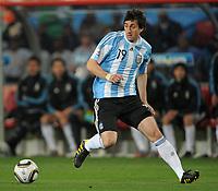 Fotball<br /> VM 2010<br /> 12.06.2010<br /> Argentina v Nigeria<br /> Foto: Witters/Digitalsport<br /> NORWAY ONLY<br /> <br /> Diego Milito (Argentinien)<br /> Fussball WM 2010 in Suedafrika, Vorrunde, Argentinien - Nigeria