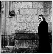 Gerry Rafferty at Highgate Cemetery in 1991