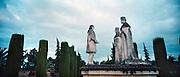 Spanje, Cordoba, 29-5-2007Standbeeld van Christoffel Columbus die de Spaanse koning Ferdinand en koningin Isabel om geld vraagt voor zijn ontdekkingsreis.Foto: Flip Franssen