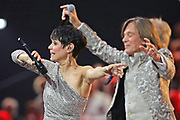 Francine Jordi und Jürgen Drews bei der «Silvestershow 2019» mit Jörg Pilawa & Francine Jordi in der Baden-Arena, Messe Offenburg