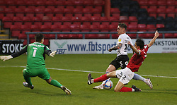 Sammie Szmodics of Peterborough United is blocked by Perry Ng of Crewe Alexandra - Mandatory by-line: Joe Dent/JMP - 14/11/2020 - FOOTBALL - Alexandra Stadium - Crewe, England - Crewe Alexandra v Peterborough United - Sky Bet League One