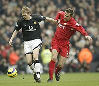 Fotball<br /> England 2004/22005<br /> Foto: SBI/Digitalsport<br /> NORWAY ONLY<br /> <br /> Liverpool v Manchester United.<br /> FA Barclays Premiership<br /> 15/01/2005<br /> <br /> Liverpool's Dietmar Hamann and United's Darren Fletcher