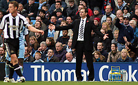 Photo: Paul Thomas.<br /> Manchester City v Newcastle United. The Barclays Premiership. 11/11/2006.<br /> <br /> Newcastle manager, Glenn Roeder.
