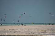 Kitesurfing in the Indian Ocean Photographed on the East Coast, Zanzibar